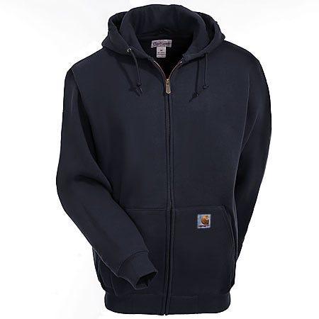 Carhartt Sweatshirts: Men's Black K185 BLK Heavyweight Hooded Sweatshirt Sale $60.00 Item#K185BLK :
