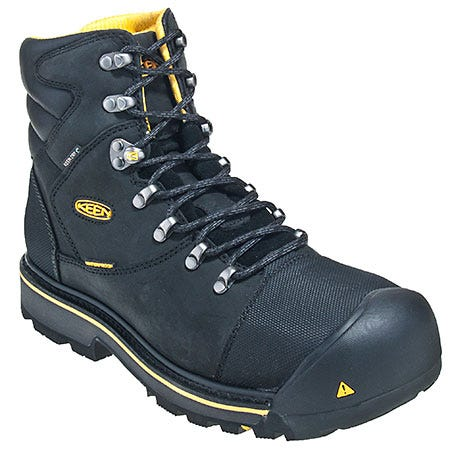 Keen Boots: Men's 1009173 Black Steel Toe Slip-Resistant EH Work Boots