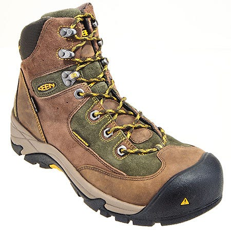 Keen Boots: Men's Composite Toe 1010106 Waterproof Brown Rainier Work Boots