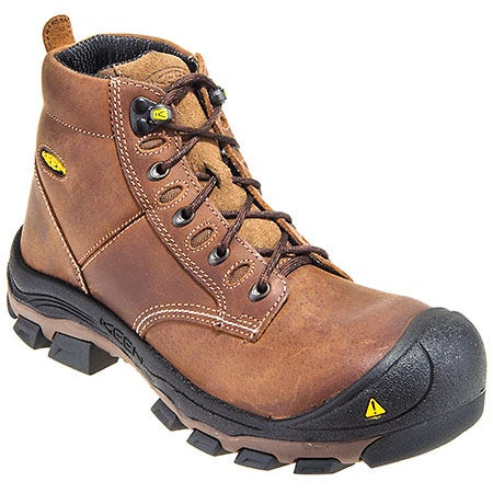 Keen Boots: Men's 1010114 USA-Made Water-Resistant Brown EH Steel Toe Work Boots