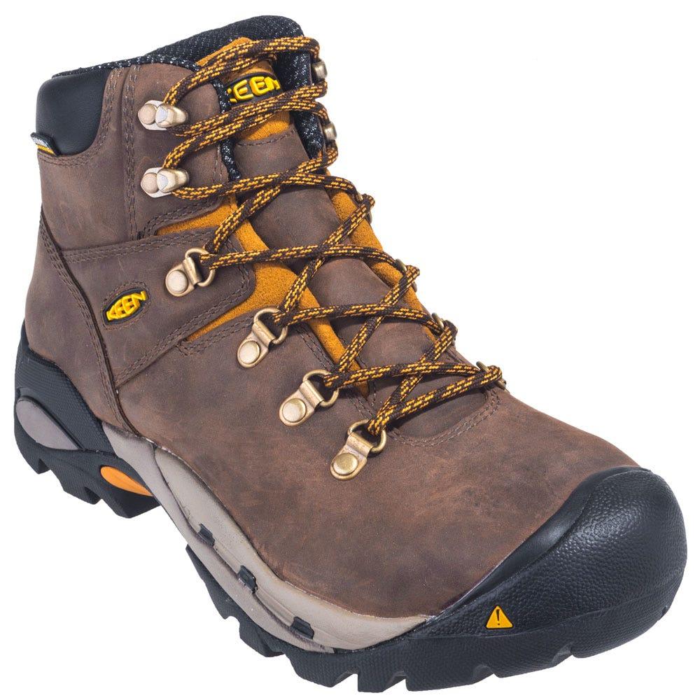keen boots s 1013262 brown waterproof steel toe