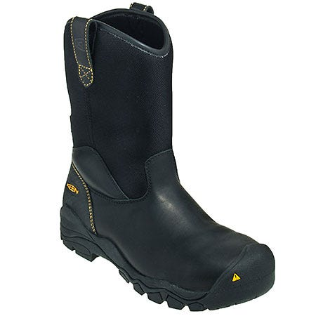 Keen Boots: Men's Black 1009175 Steel Toe EH Waterproof Wellington Work Boots