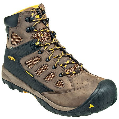 Keen Boots: Men's Brown 1009181 Waterproof Puncture-Resistant EH Tucson Work Boots
