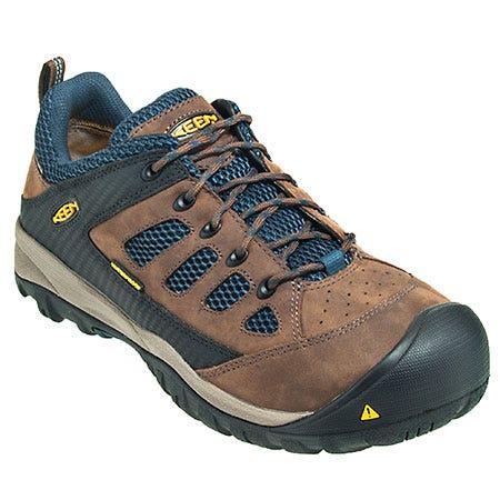 Keen Shoes: Men's Tucson Brown 1009182 Steel Toe EH Slip Resistant Work Shoes Sale $150.00 Item#1009182 :
