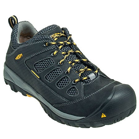 Keen Shoes: Men's Black 1009183 Waterproof Puncture-Resistant Tucson Shoes