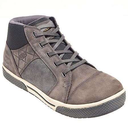 Keen Footwear: Men's 1011351 Grey Steel Toe Slip-Resistant Shoes