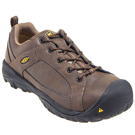 Keen Footwear: Men's 1011348 ESD Steel Toe Brown Water-Resistant Work Shoes