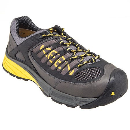 Keen Shoes: Men's Grey 1011347 Steel Toe ESD Aurora Work Shoes