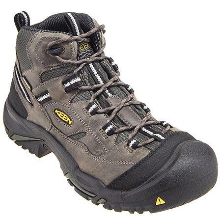 Keen Footwear: Men's 1011243 USA-Made Steel Toe Grey Brown Work Boots