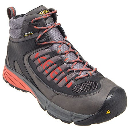 Keen Footwear: Men's 1011344 Waterproof Steel Toe Red/Grey EH Hiking Boots