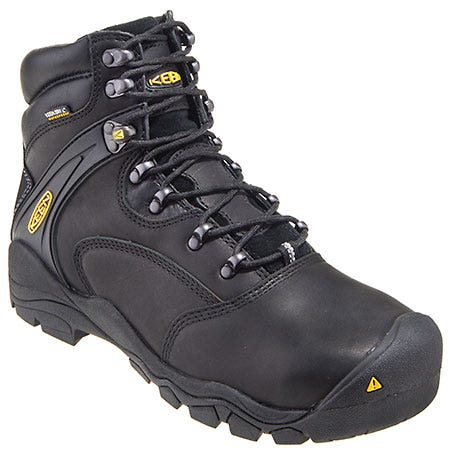 Keen Footwear: Men's 1011357 Black Steel Toe Waterproof EH Slip-Resistant Boots