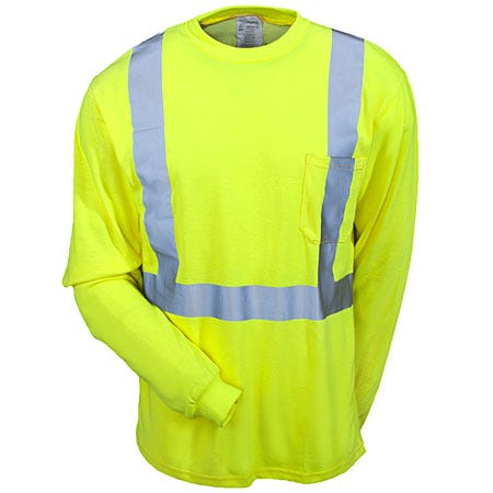 Occunomix Shirts: Men's Yellow LUX LST2 FR Hi Vis Long Sleeve FR Shirt