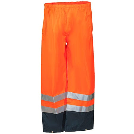 Occunomix Pants: Men's High Visibility Breathable Rain Pants LUX TENR ORG