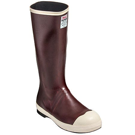 Tingley Boots: Men's Steel Toe Neoprene MB921B Chemical-Resistant Brown Boots