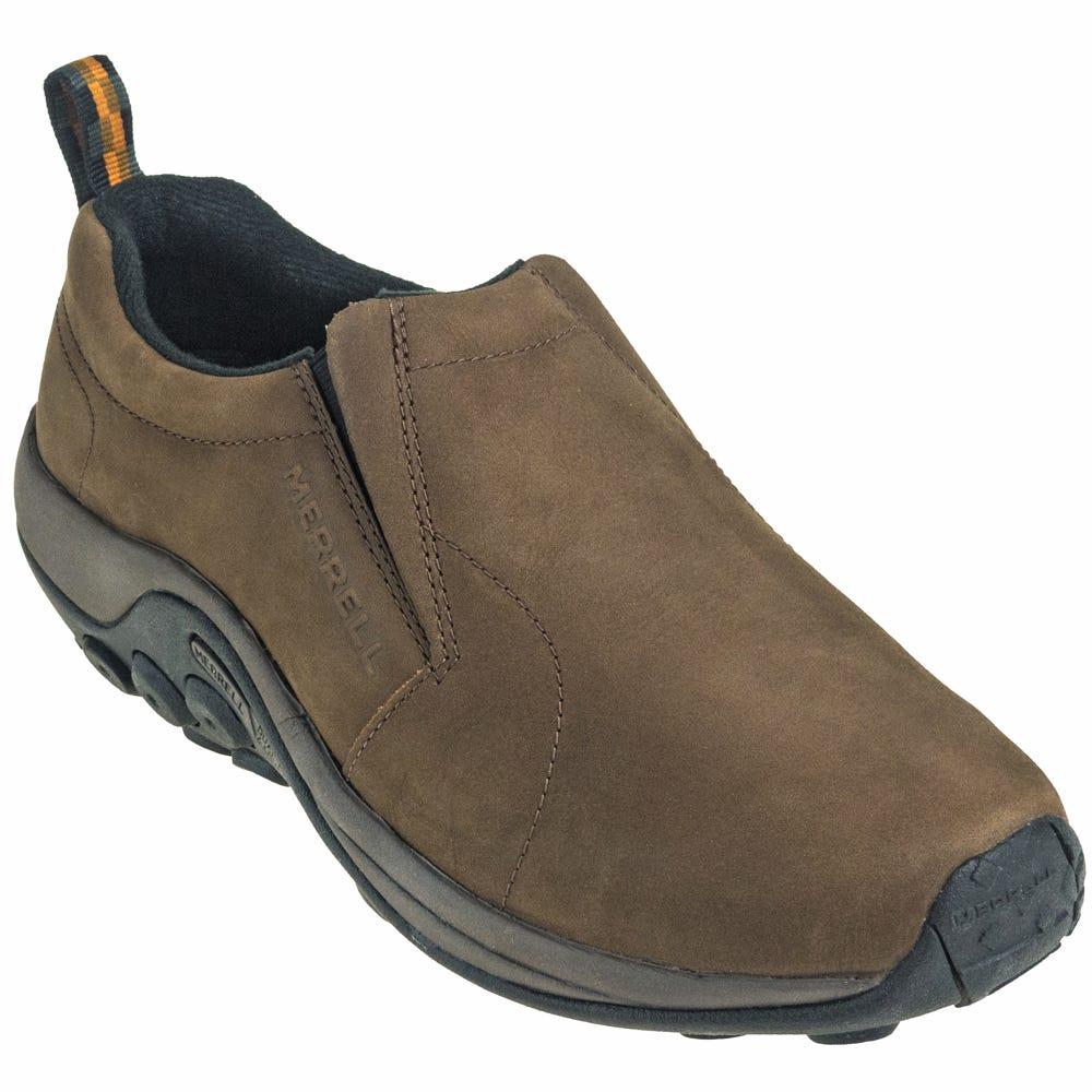 merrell shoes s j63839w brown nubuck jungle moc slip