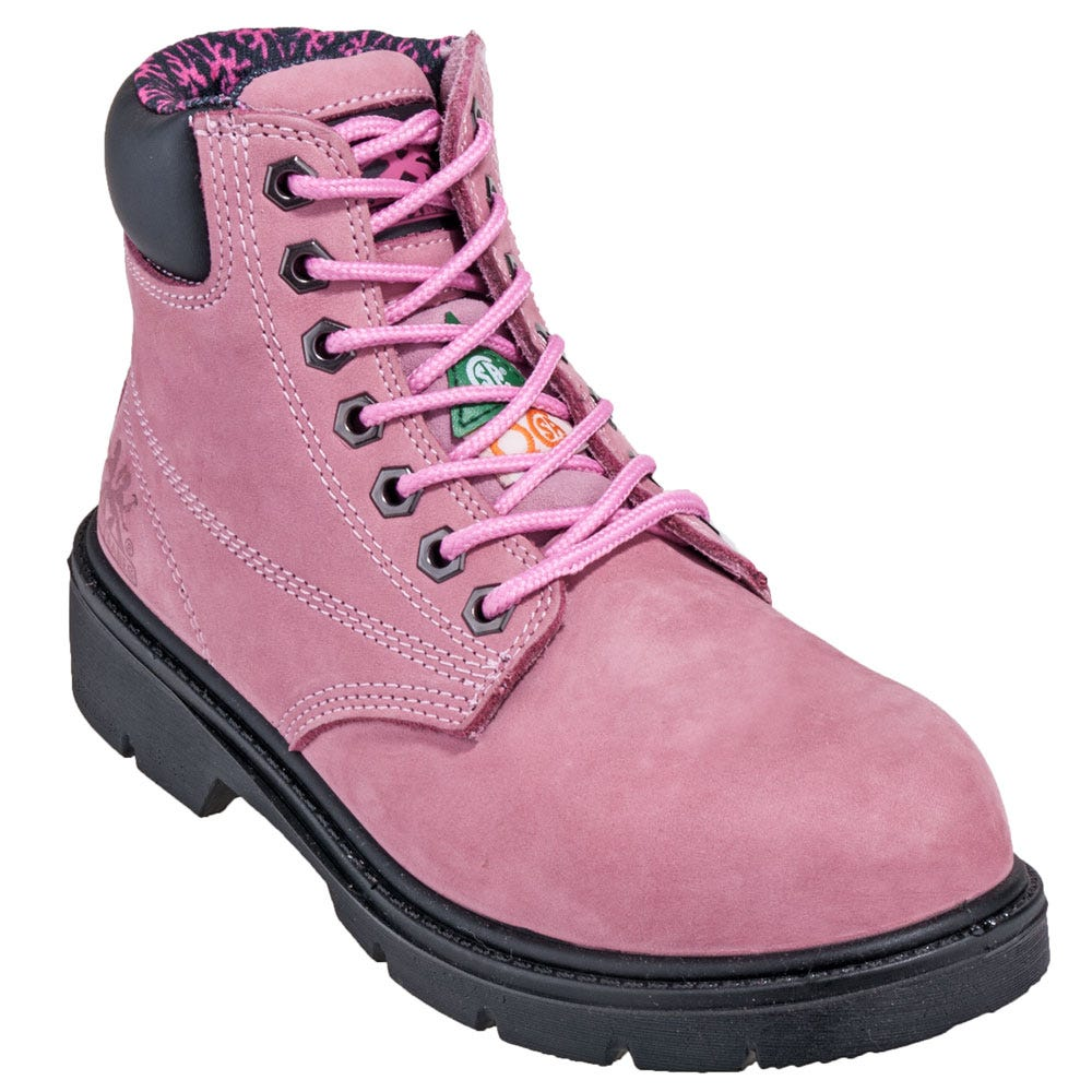 Cool WOMENS LADIES STEEL TOE CAP HIKING SAFETY WORK PINK TRAINERS BOOTS