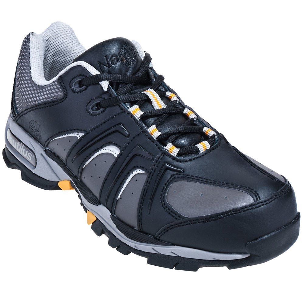 Nautilus Men's Steel Toe N1333 Black ESD Athletic Work Shoes