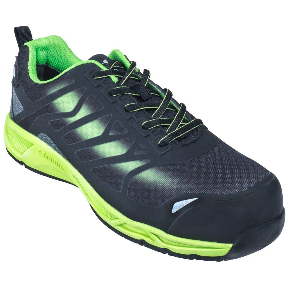 nautilus shoes s n2435 black green composite toe esd
