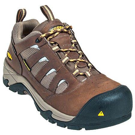 Keen Footwear: Men's Composite Toe Lexington Brown 1008299 Slip Resistant Shoes Sale $130.00 Item#1008299 :