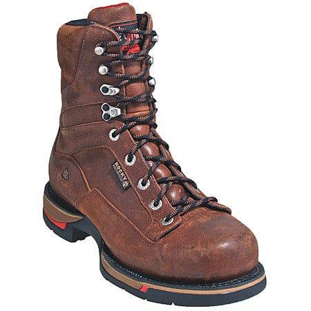 Rocky Boots Men's Brown Waterproof Long Range Work Boots 8886
