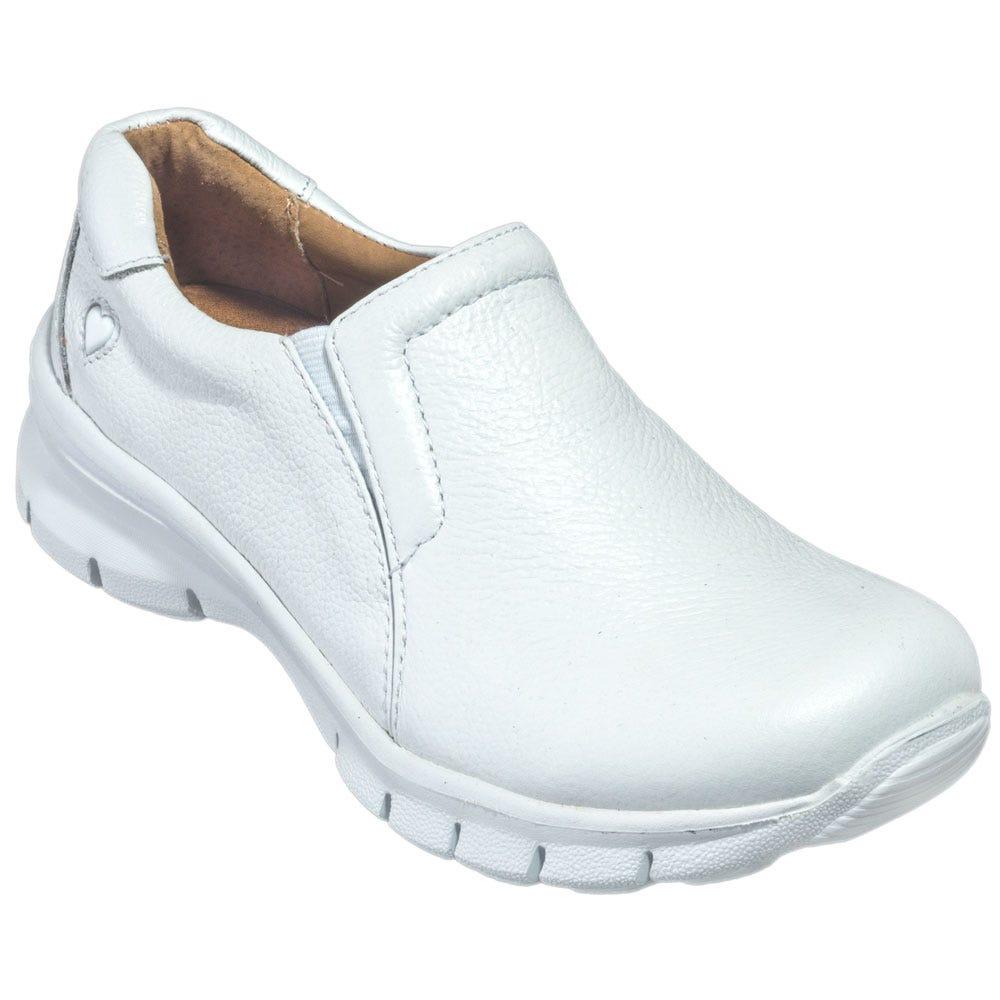 Nursemates White Slip On Shoes