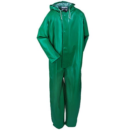 Tingley Coveralls: Men's FR PVC Waterproof Safety Coveralls V41108 GRN Sale $80.00 Item#V41108-GRN :