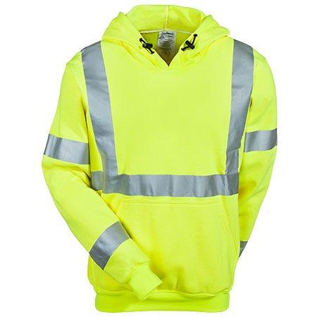 Occunomix Sweatshirts: Men's LUX SWT3FR Flame Resistant Hi Vis Sweatshirt
