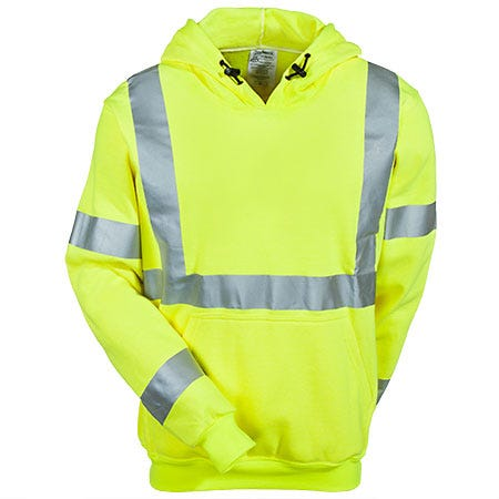 Occunomix Sweatshirts: Men's LUX SWT3FR Flame Resistant Hi Vis Sweatshirt Sale $154.00 Item#LUX-SWT3FR :