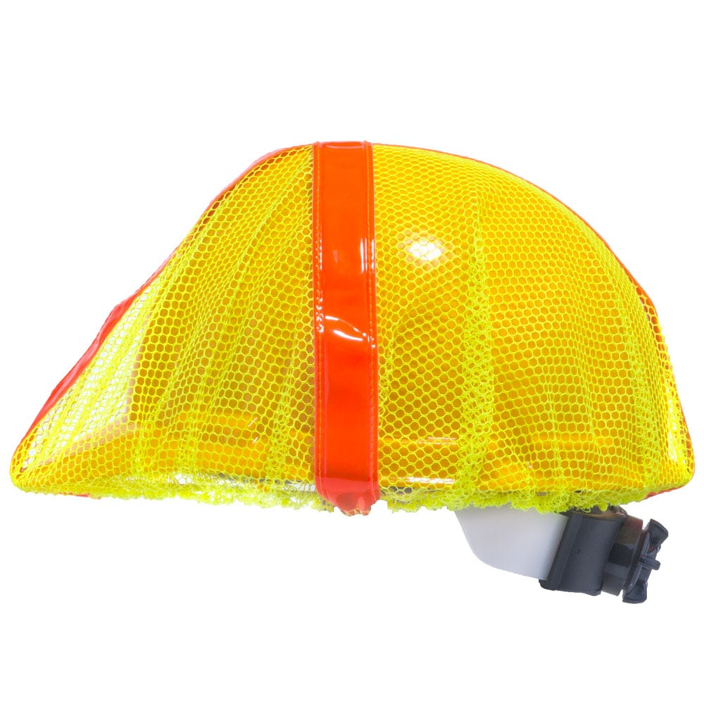 e3846d0d016 Occunomix Hat Covers  Unisex Hi-Vis V896 R Y Yellow Mesh Safety Hard Hat  Cover