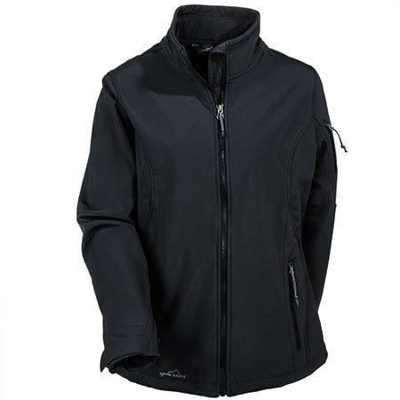 Eddie Bauer Women's Black Waterproof Soft Shell Jacket EB531 BLK