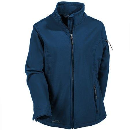 Eddie Bauer Women's Waterproof Blue Soft Shell Jacket EB531 DAC