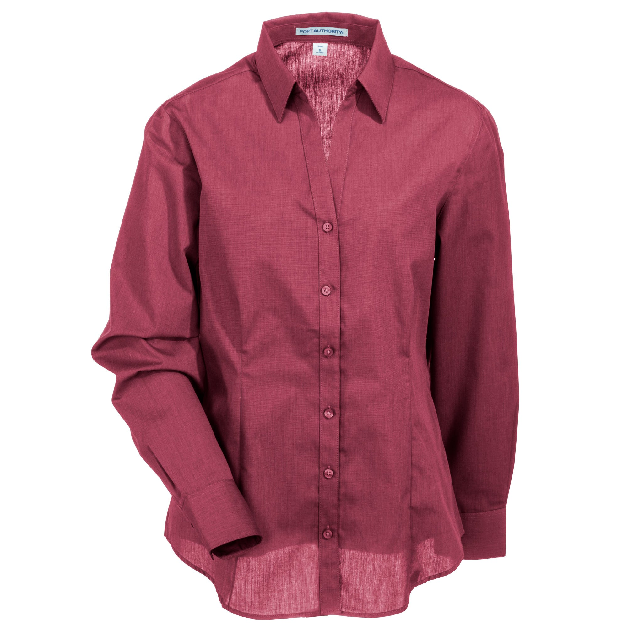 Port Authority Women's L640 RDO Red Oxide Button Down Easy Care Crosshatch Shirt