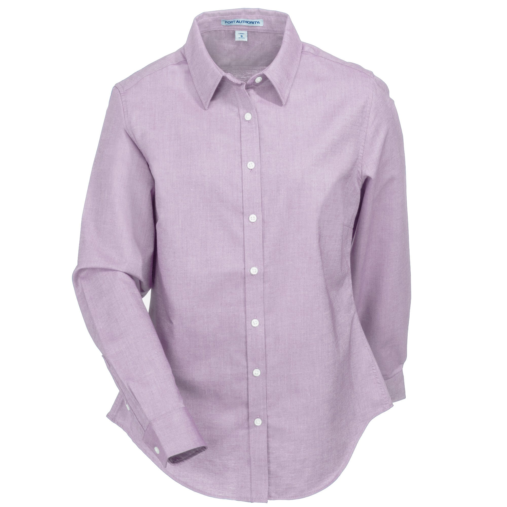 Port Authority Women's L658 SPL Soft Purple SuperPro Long-Sleeve Oxford Shirt