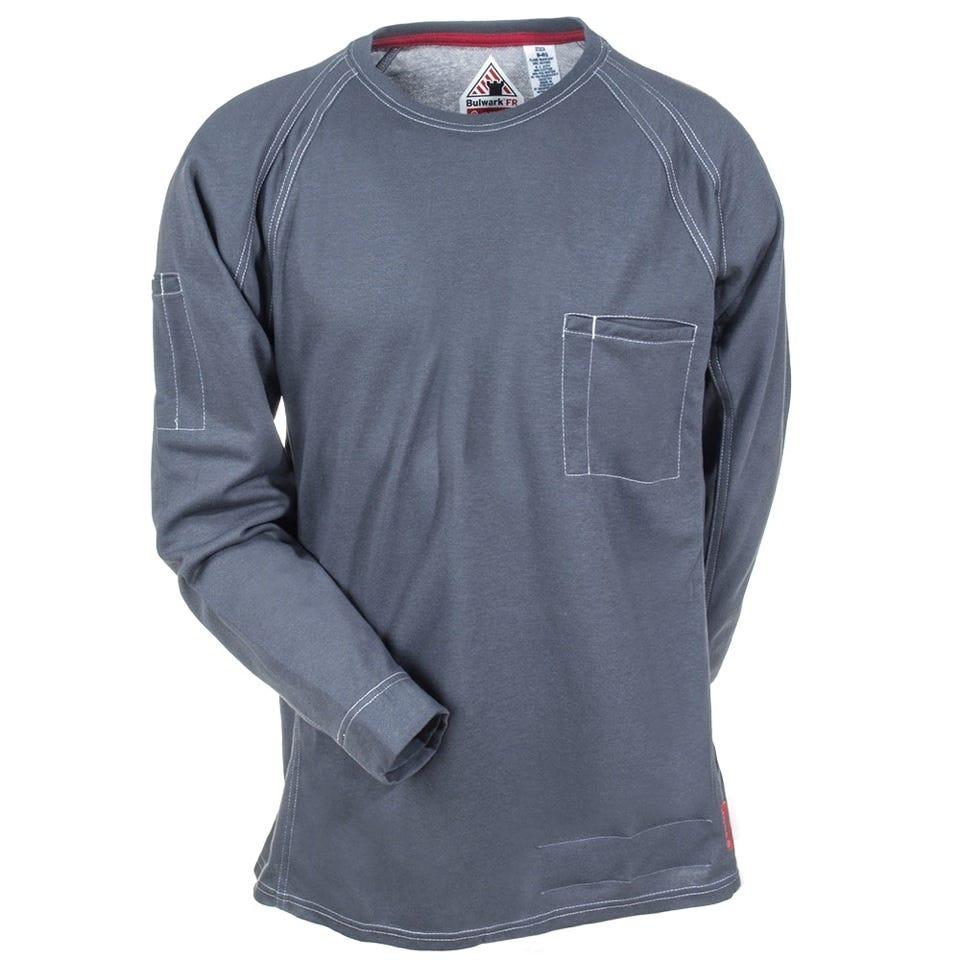 Bulwark Shirts Men 39 S Charcoal Qt32 Ch Flame Resistant Iq