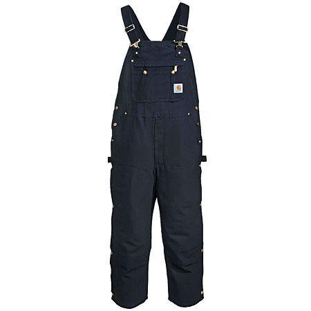 Carhartt Overalls: Bluck Cotton Duck Zip Bib Overalls R37 BLK Sale $70.00 Item#R37BLK :