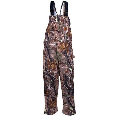 Carhartt Overalls: Men's Camo AP Quilt-Lined Bib Overalls R54 CAP Sale $100.00 Item#R54CAP :