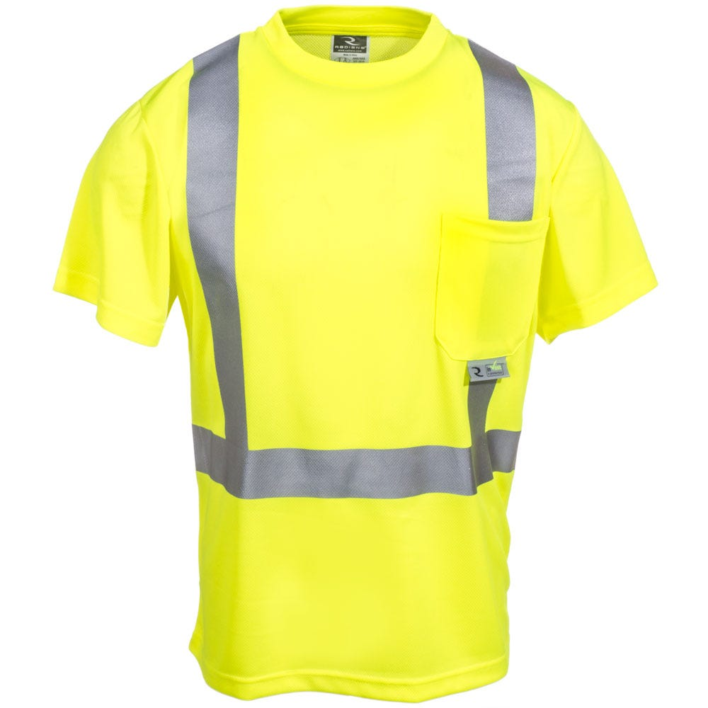 Radians shirts unisex st11 2pgs high visibility green for Wholesale high visibility shirts