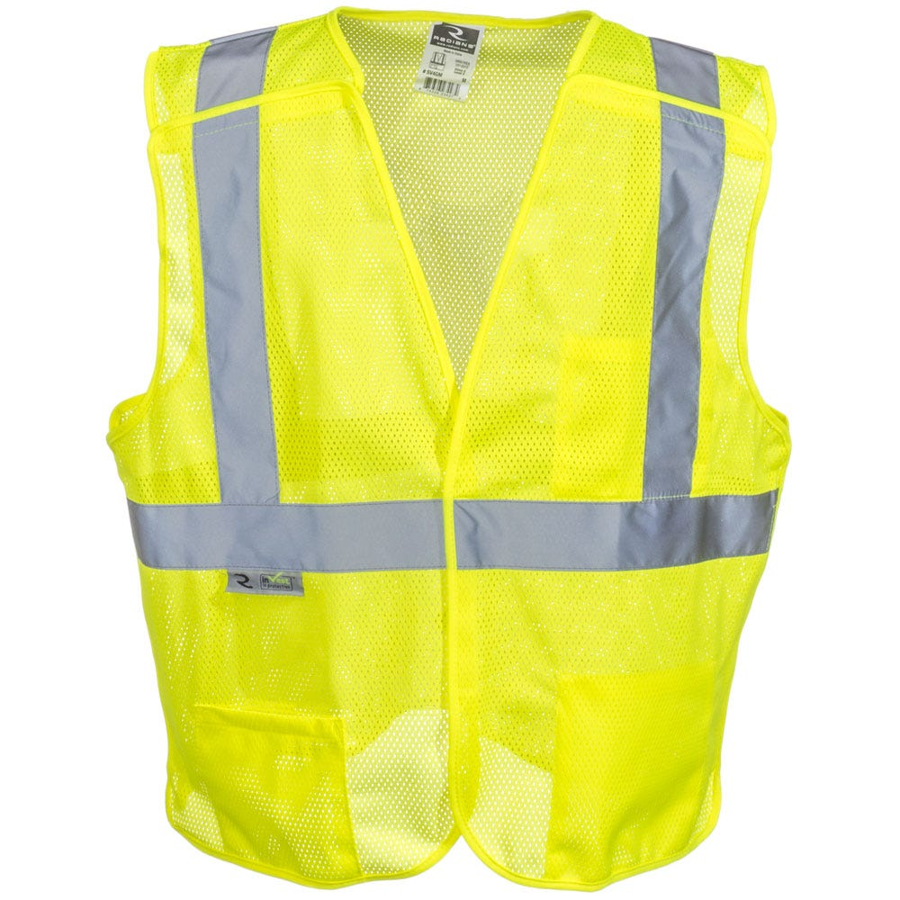 Radians Unisex SV4 GM High Visibility Green Class 2 Breakaway Safety Vest