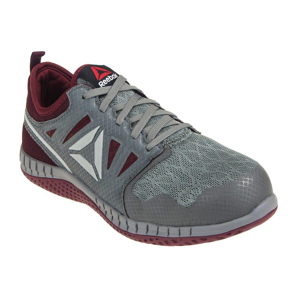 Reebok Women's RB253 Grey Steel Toe Slip-Resistant ZPRINT Athletic Work Shoes