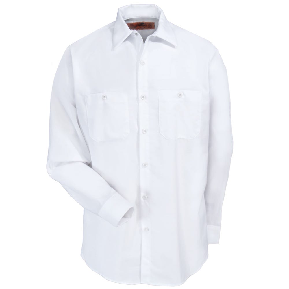 Red Kap Shirts Men 39 S Sp14 Wh White Long Sleeve Industrial
