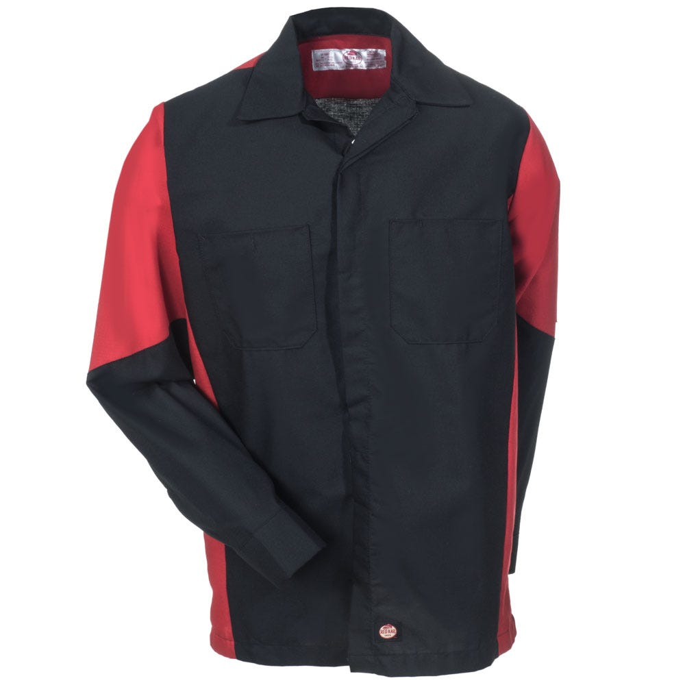 Red Kap Shirts Men 39 S Sy10 Br Black Red Ripstop Long