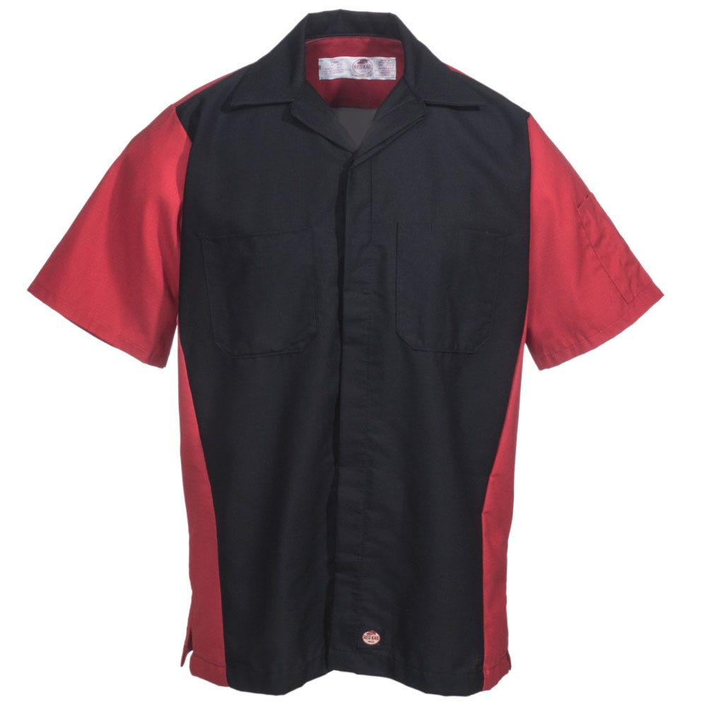 Red Kap Shirts Men 39 S Sy20 Br Black Red Short Sleeve