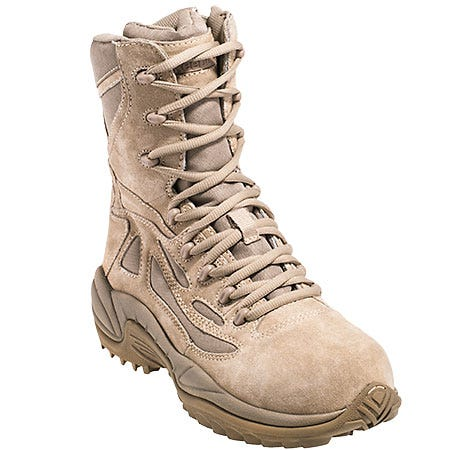 Reebok Women's Tan RB894 Rapid Response EH Composite Toe Military Boots