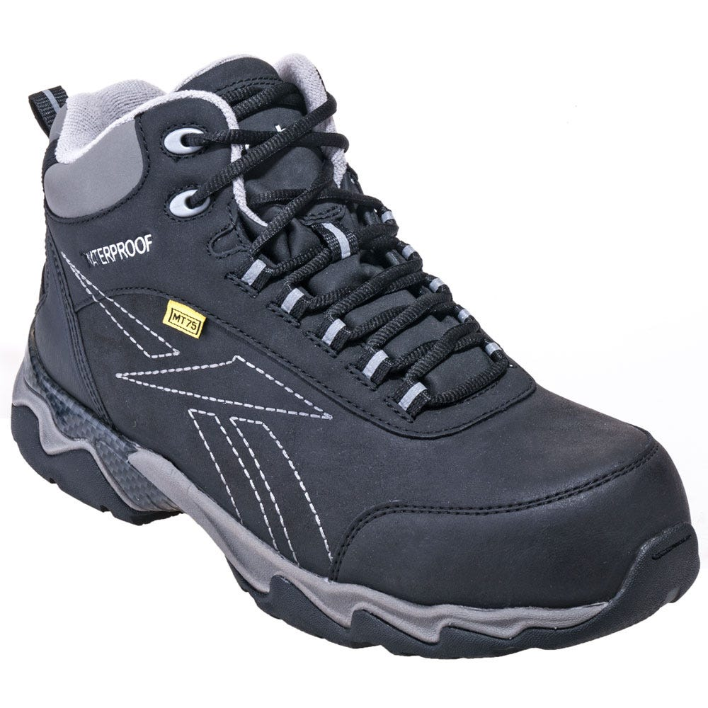 Reebok Boots: Men's RB1067 Black Met Guard Waterproof ...