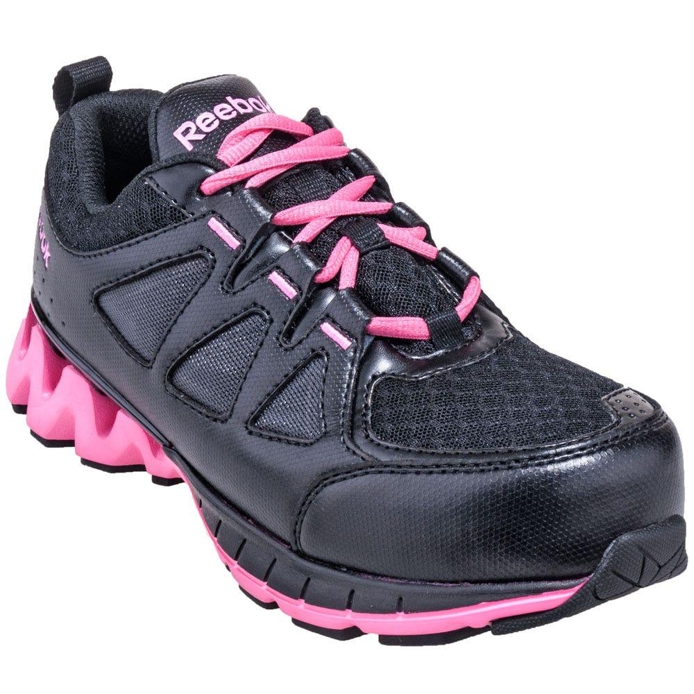 Reebok Women's RB330 Composite Toe EH Non-Metal ZigKick Work Shoes