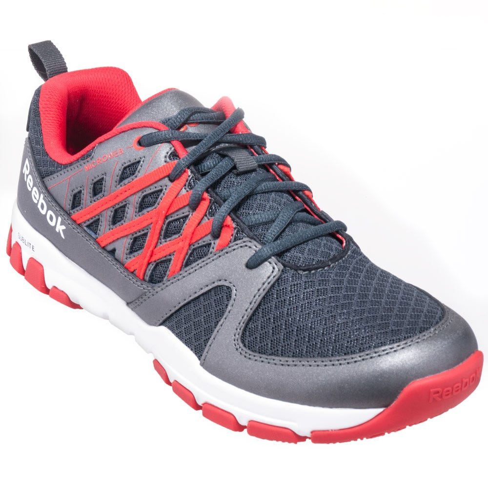 Reebok RB4005 Steel Toe EH Grey Sublite Athletic Work Shoes