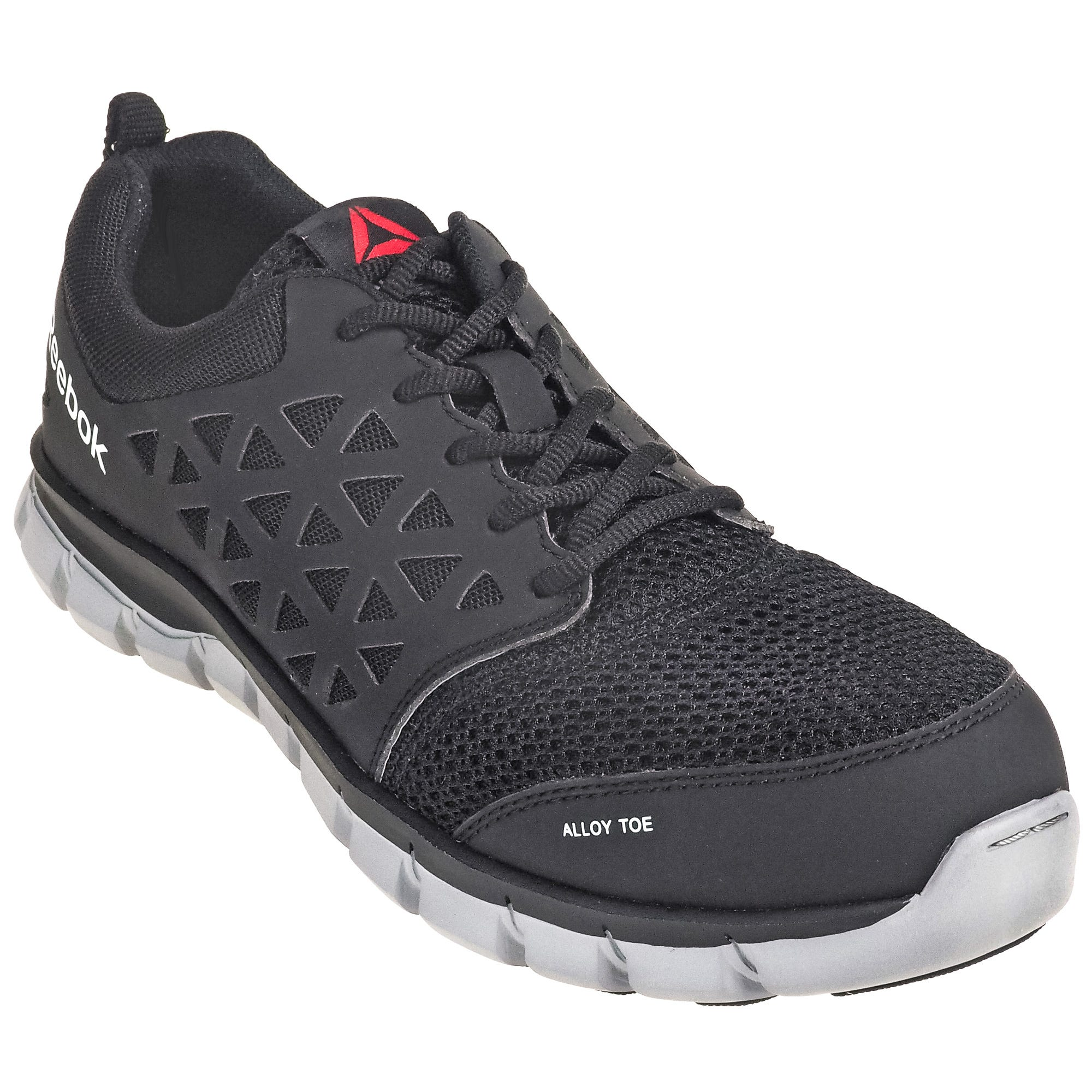 Reebok Women's RB041 Black Alloy Toe EH Athletic Sublite Cushion Work Shoes
