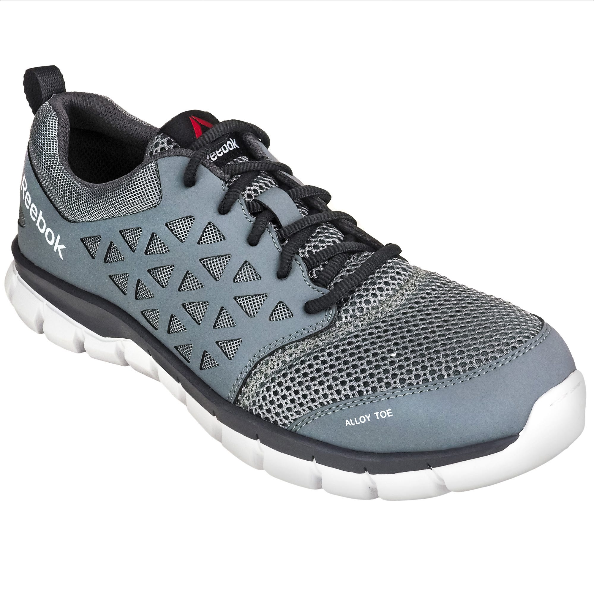 5c092a011e67 Reebok EH RB4042 Grey Sublite Cushion Alloy Toe Athletic Shoes
