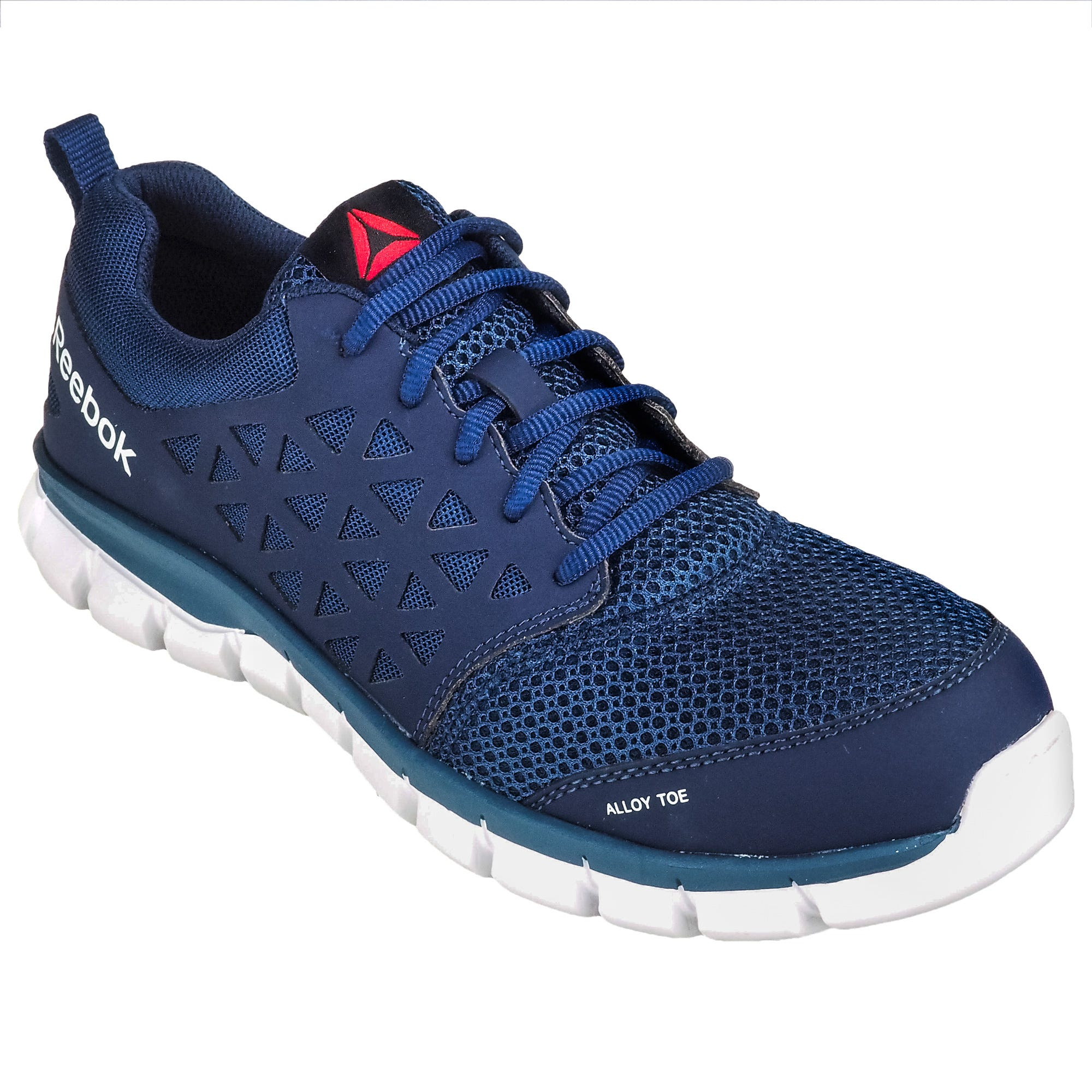 Reebok Alloy Toe ESD RB4043 Sublite Cushion Blue Athletic Shoes