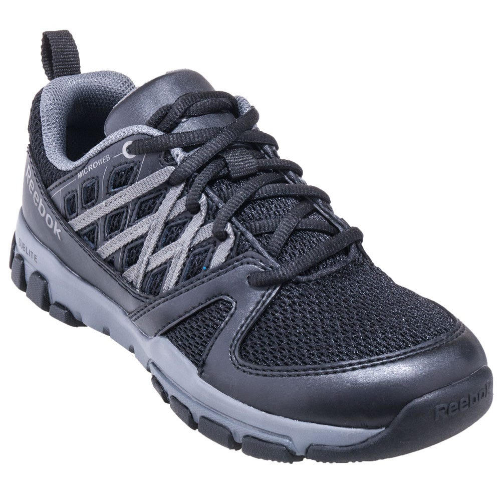 Reebok RB4016 Black Sublite ESD Steel Toe Athletic Work Shoes
